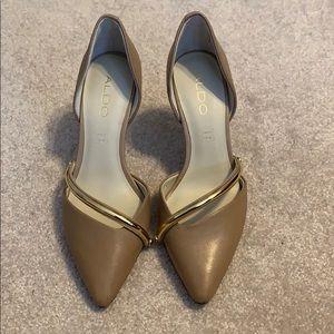 NWOT Genuine Leather Aldo Heels